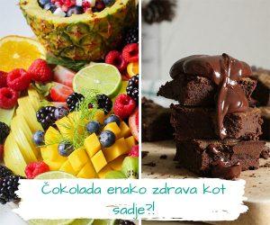 ALI VEŠ?! Čokolada je tako zdrava kot sadje