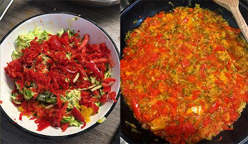 Zelenjava za omako čufti